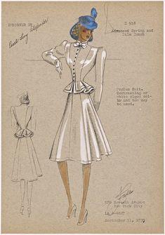 Peplum Suit, 1939.