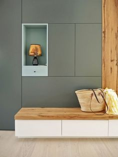 Ideas For Wardrobe Closet Entrance Home Design, Entry Hallway, Foyer Decorating, Decorating Tips, Built In Cabinets, Green Cabinets, Wardrobe Closet, Wardrobe Design, Storage Shelves