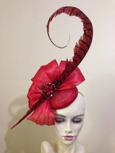 Red fascinator by millinery by miss Lauren