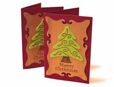 Wooden Christmas Card, lasercut and -engraved