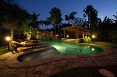 The #turquoise #pool by night.