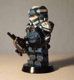 Halo 4 Spartan Warrior Custom Minifigure