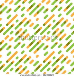Seamless Pattern Overlap Diagonal Graphic Stripes with Round Corners. Vector illustration