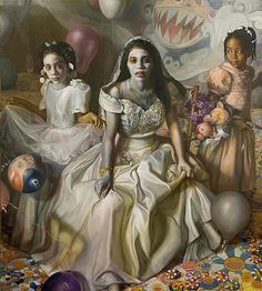 Margaret Bowland, unbelievable artist, I saw this painting in DC last year and it was stunning. The figures life sized.