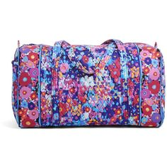 Vera Bradley Large Duffel Travel Bag in Impressionista ($85) ❤ liked on Polyvore featuring bags, luggage and impressionista