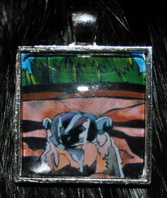 American Badger Pendant by KabloonaKreations on Etsy, $18.00