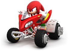 View an image titled 'Knuckles & Vehicle Art' in our Sonic & Sega All-Stars Racing art gallery featuring official character designs, concept art, and promo pictures. Sonic Car, All Star, Sonic The Hedgehog, Diddy Kong, Outdoor Fun For Kids, Classic Sonic, Jurassic Park World, Software Development, Cute Drawings
