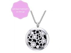"Amazon.com: Meditizen Essential Oil Diffuser Necklace for Aromatherapy, Stainless Steel Locket Pendant with 30"" Chain and 3 Refill Washable Pads, Hypoallergenic: Home & Kitchen"