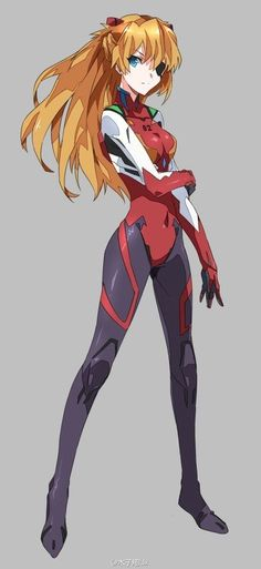 Evangelion - Asuka Q by 木子翔 (http://www.pixiv.net/member_illust.php?mode=mediumillust_id=37108103) ★ || CHARACTER DESIGN REFERENCES | マンガの描き方 • Find more artworks at https://www.facebook.com/CharacterDesignReferences http://www.pinterest.com/characterdesigh and learn how to draw: #concept #art #animation #anime #comics || ★