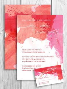 Printable Wedding Invitation  watercolor artistic by PicadillyLime, $30.00