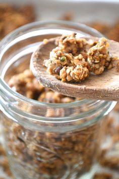 Gluten Free Ginger Spice Oat Clusters everything free