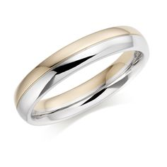 Our stunning #Platinum & #18ct red #gold Bisected #court style #wedding #ring