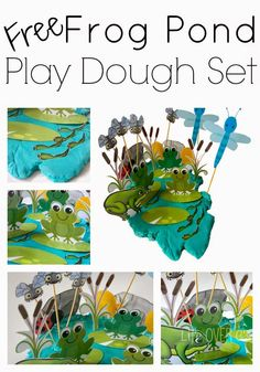 FREE Frog Pond Play Dough Printable
