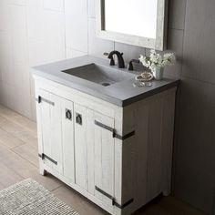 Danville White Bottom Drawer Vanity Available Widths 30