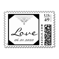 White Black and Silver Damask Wedding Love Stamp you will get best price offer lowest prices or diccount couponeDeals          	White Black and Silver Damask Wedding Love Stamp Online Secure Check out Quick and Easy...