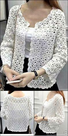 Stylish women top crochet Pattern idea ideas for women Crochet Backpack Pattern, Crochet Gloves Pattern, Crochet Cardigan Pattern, Crochet Jacket, Crochet Blouse, Knitting Patterns, Crochet Patterns, Crochet Ideas, Knitting Ideas