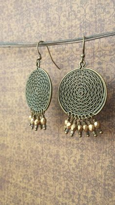Hey, I found this really awesome Etsy listing at https://www.etsy.com/listing/210335515/matte-gold-czech-glass-dangles-hang-in