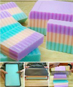diy bath lotions | Making Scentz (aka Homemade Bath Products): Wavy Confetti Loaf Soap