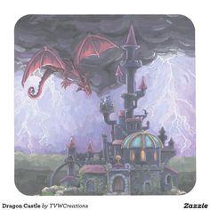 Dragon Castle Square Paper Coaster