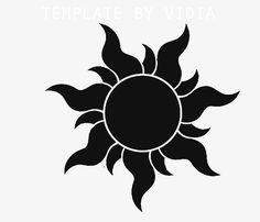 black sun tattoo motive of Rapunzel movie - Art Tattoo Rapunzel Film, Rapunzel Sun, Tangled Sun, Tangled Party, Disney Tangled, Tangled Flower, Disney Tattoos, Black Sun Tattoo, Tribal Sun Tattoos