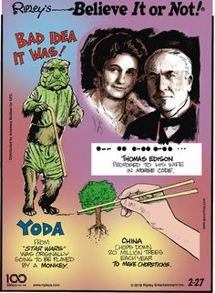 For February 2019 Ripley Believe It Or Not, Comic Strips, Star Wars, Comics, February, Cartoons, Movie Posters, Entertainment, Cartoon
