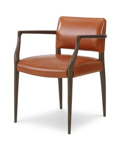 Shop for Julian Chichester , Luccio Chair, and other Living Room Chairs at Studio 882 in Glen Mills, PA (Across from Wegmans). Fabric Dining Chairs, Dining Arm Chair, Chair Design, Furniture Design, Chair Upholstery, Dining Room Design, Dining Rooms, Furniture Inspiration, Contemporary Furniture