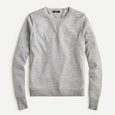 J.Crew: Margot Crewneck Sweater For Women Sweater Fashion, Sweater Outfits, Crew Clothing, Cashmere Sweaters, J Crew Sweaters, Wool Sweaters, Tank Top Shirt, Back Home, Grey Sweater