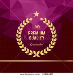 Quality golden badges and labels  - stock vector