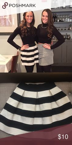 Black and white striped skirt Forever 21 black and white striped skirt size small. Worn once Forever 21 Skirts