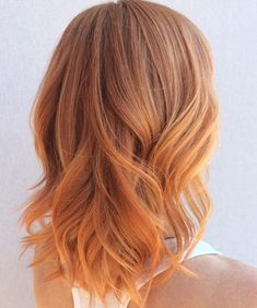Stunning Strawberry Blonde Medium Ombre Hairstyles 2016