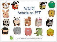 ATELIÊ MAÇÃ VERDE: MOLDE - RISCO - ANIMAIS NA PET - POTES EM EVA