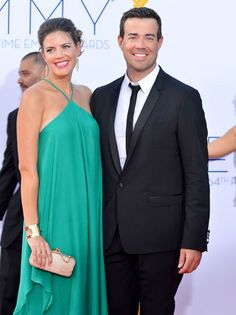 The Voice's Carson Daly arrives with wife Siri Pinter.