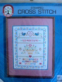 Vintage  Sampler Stamped Cross Stitch Kit  by DocksideDesignsEtc, $6.00