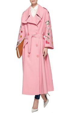Pink Cotton Garden Fiore Coat by Vivetta Now Available on Moda Operandi