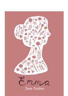 Book cover (Illustration by Clare Owen) of Emma by Jane Austen #janeausten