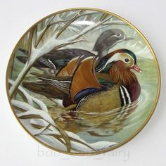 Manderine Decoupage, Duck Bird, Mandarin Duck, China Painting, Porcelain Ceramics, Bird Art, Ducks, Animals And Pets, Cute Pictures