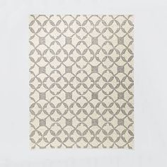 Tile Wool Kilim Rug - Platinum