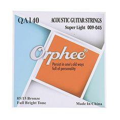 Amazon.com: Getaria Acoustic Guitar Strings 009/045 80/15 Bronze Hexagonal alloy GE-MGS-QA140: Musical Instruments