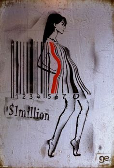 Are you a scannable store item? Cuz I'm checking you out! cc @Tammy Portnoy Ge Feng - Barcode Girl Poster