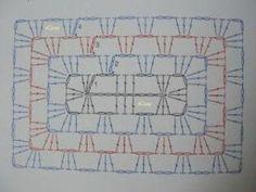 granny rectangle : je vous propose ces granny qui ont une forme originale, vous trouverez toutes les explications et les diagrammes