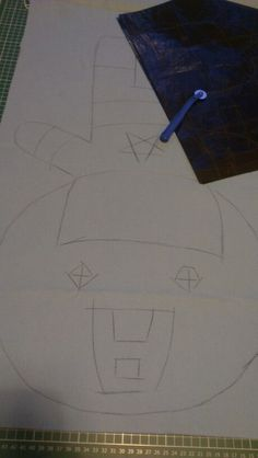 Captain America getting copied from the template using carbon paper