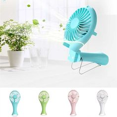 New Mermaid Design USB Rechargeable Handheld Mini Fan Portable Summer Energy Conservation Folding Quite Cooling Fan