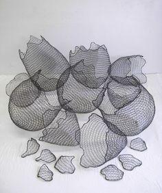 Adrienne Sloane, Walking on Eggshells. Knitting with wire