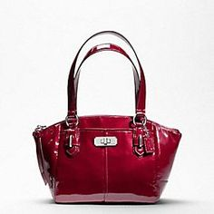 Coach - chelsea patent small bag, wine color.  (I need less expensive taste!)