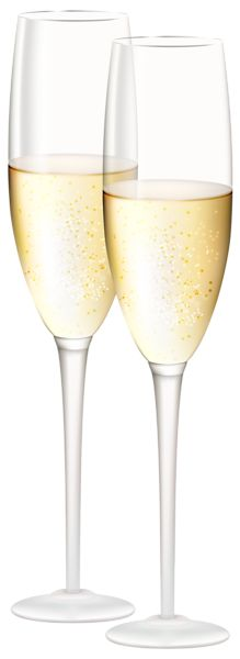 Champagne Glasses Transparent PNG Clip Art Image