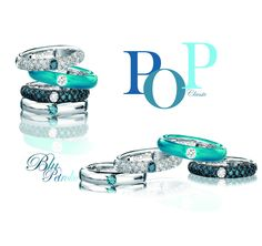 Adolfo Courrier - PopArt inspired 18k gold Classic rings from the Pop Collection.