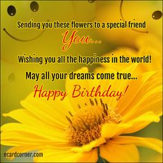 Birthday Wishes for Friend #greetings #friends