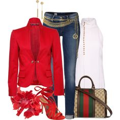 """""""Go RED: Red Shoes..."""" by lbite1 on Polyvore"""