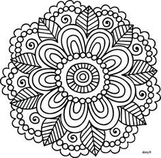 Mandalas para que yo aga Mandalas Painting, Mandalas Drawing, Mandala Coloring Pages, Coloring Book Pages, Dot Painting, Mandala Pattern, Zentangle Patterns, Embroidery Patterns, Zentangles