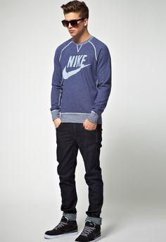 hunk in a sweatshirt